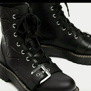 Size 11 leather boot zara